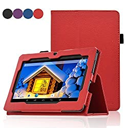 Dragon Touch Y88 Case - ACdream Folio Premium PU Leather Cover Case for Dragon Touch Y88X Plus / Y88X / Y88 / Q88 A13, Alldaymall A88X / A88S, Zeepad, NeuTab N7 Pro 7, Chromo Inc 7