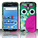 Twisted Tech Hard Plastic Patched Owl Design Matte Case for Samsung Hercules T989 -Galaxy S2 T-Mobile -In Retail Packaging-Pink