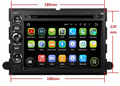7 Inch Android 5.1.1 OS 1024x600 Touchscreen Quad Core 1.6G CPU 16G Flash Car DVD GPS for Ford Fusion/Explorer (2006-2009) Edge(2007-2009) Expedition(2007-2009) Escape(2008-2009) F150(2004-2008) (F150 Radio Console compare prices)