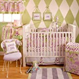 My Baby Sam Sweet Pea 4 Piece Crib Bedding Set, Lavender