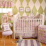 My Baby Sam Sweet Pea 4 Piece Crib Bedding Set, Lavender