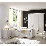 Dreams4Home Jugendzimmer Set 'Dreamy', 3trg. Kleiderschrank, Bett 120 x 200 cm, Nachtkonsole, ohne Matratze, ohne...