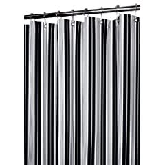 black and white striped shower curtain.  2 Park B Smith Picardi Stripe Shower Curtain Black White and Striped And Decor