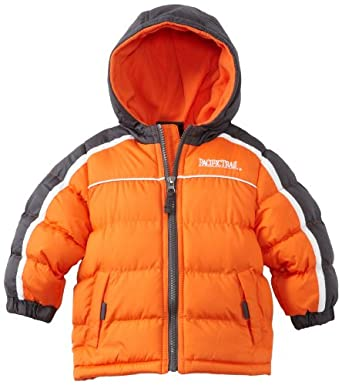Pacific Trail - Kids Baby-Boys Infant Puffer Jacket With Piping, Orange, 12 Months