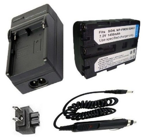 Battery + Charger for Sony NP-FM30, NP-FM50 and Sony Cyber-shot DSC ...