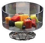 Clear Plastic Elegant Pedestal Medium Trifle Bowl 40 oz