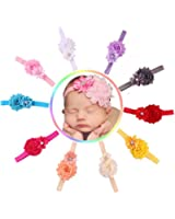 Qandsweet Baby Girl Elastic Headbands with Hair Bows