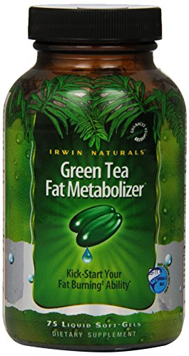 Irwin Naturals Green Tea Fat Metabolizer Dietary Supplement, 75 Liquid Softgels