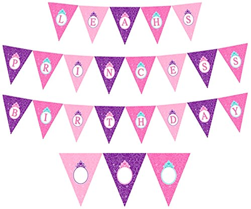 Disney Princess Pennant Banner, Multicolored