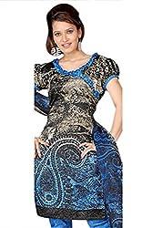 Variation Women's Black Jacquard Unstiched Dress Material (VD11958)