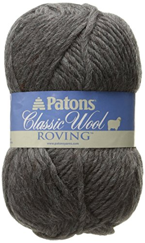 Patons Classic Wool Roving Yarn, Dark Grey
