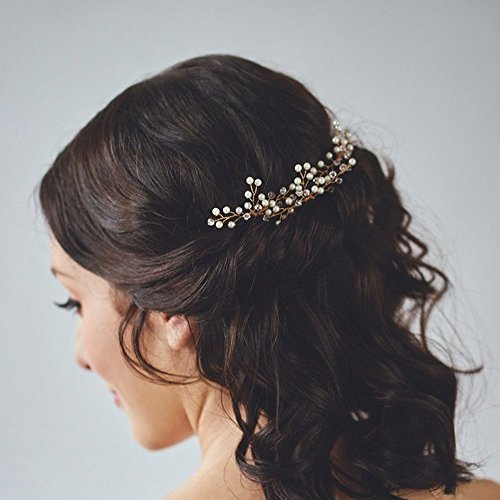 Venusvi Wedding Hair Pins for Bride- Bridal Hair Accessories for Bridesmaids and Flower Girls(pack of 3)