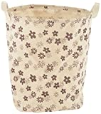 Homemart Linen Laundry Bag (35 cm x 32 cm x 43 cm, Beige)