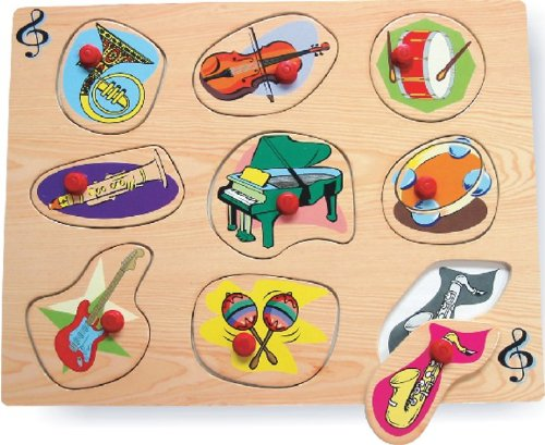 Puzzled Peg Puzzle Large - Music Instruments Wooden Toys