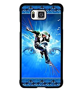 PrintDhaba Dance D-2524 Back Case Cover for SAMSUNG GALAXY ALPHA (Multi-Coloured)