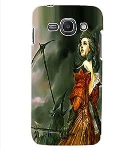 ColourCraft Warrior Girl Design Back Case Cover for SAMSUNG GALAXY ACE 3 LTE S727