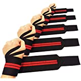 Wrist Wraps, Heavy Duty Support, Crossfit Training, Strength Wraps for Extreme Weightlifting, Powerlifting & Bodybuilding Workout, Best for Weight Lifting, Compression Wrist Injury & Lifting Straps, Read Our Reviews! Lifetime Money Back Guarantee