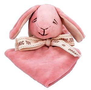 Miyim Simply Organic Lovie Blankie, Bunny, 0-3 Months