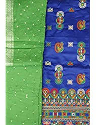 Exotic India Salwar Kameez Fabric From Gujarat With Embroidered Peacocks And Mir