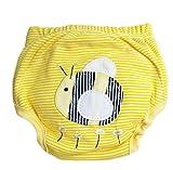CuteOn Unisexo Bebé Niña Chico Pee Pantalones de entrenamiento Panal del pañal reutilizable - 59 Abeja 18 Meses