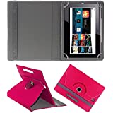 ECellStreet 360° Degree Rotating Flip Case Cover Diary Folio Case With Stand For Samsung Galaxy Tab 2 P3100 - Dark Pink