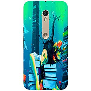Books - Mobile Back Case Cover For Motorola Moto X Style