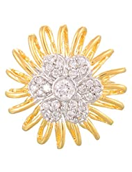 Creation Jewellery Gold Rodium Plated Gold Plated Clip-On Ring For Women - B00Z9UT3FY