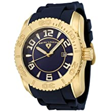 Swiss Legend Men s 20068-YG-03 Commander Collection Yellow Gold Ion-Plated Blue Dial Watch