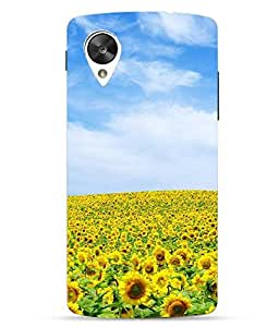 Snazzy Sun Flower Printed Multicolor Hard Back Cover For LG Google Nexus 5