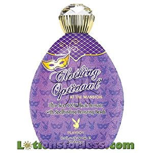 Playboy CLOTHING OPTIONAL Indoor Tanning Lotion 13.5 oz Black Bronzer Tan Bed UV