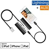 Auto iPod iPhone iPad Adapter, APPS2CAR Car MP3 Interface Stereo Radio CD Changer Lightning Cable Charger for Toyota Camry Tacoma Corolla Tundra RAV4 Highlander Sienna Prius Celica, Lexus RX GS, Scion