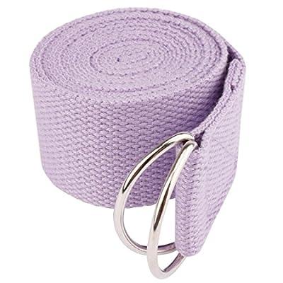 iiniim Yogagurt Fitness Belt Yoga Stretching Gürtel mit 2 D-Ring Metallverschluss