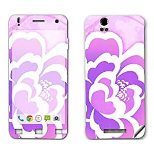 Skintice Designer Mobile Skin Sticker for Lava Iris X1, Design - Flower Love