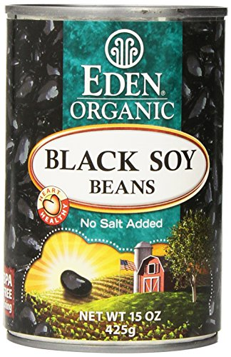 Eden Organic Black Soy Beans, No Salt Added, 15-Ounce Cans (Pack of 12)