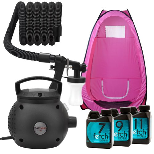 Maximist Lite Hvlp Spray Tan Machine Pink Tent Fetch Sunless Dha Tanning Kit 1A front-778171