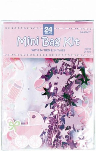 Mini Cello Bag Kit Pink Package Of 24 front-1016547