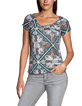 MEXX T-shirt  Manches courtes Femme  - Bleu - Blau (454) - FR : S (Taille Fabricant : XS)