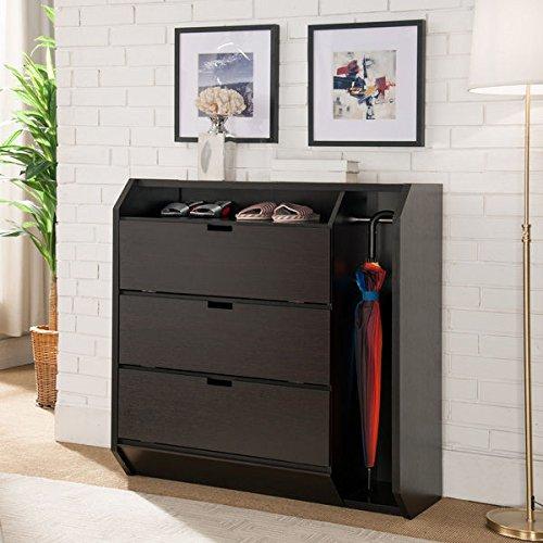 Furniture of America Marelle Transitional Cappuccino Multi-Storage Shoe Cabinet (Jordan Shoe Storage Box compare prices)