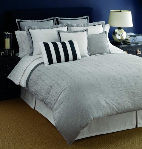 Navy And Grey Bedding 7702 front