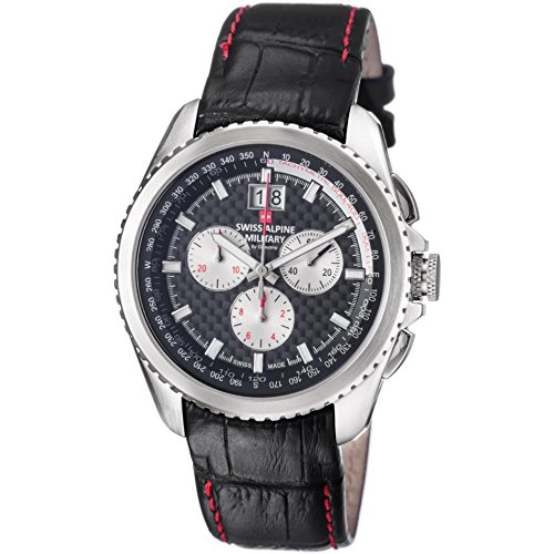 Swiss Alpine Military Thunder Men's 43mm Chronograph Quartz Watch 1621.9537 SAM