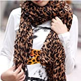 SODIAL- Fashion Leopard Pattern Shawl Scarf Wrap f...