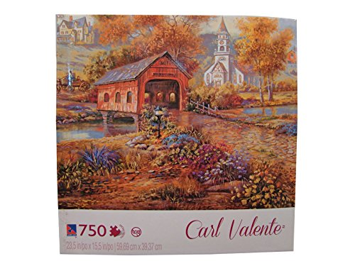 Carl Valente 750 Piece Jigsaw Puzzle: Razzberry Creek Crossing - 1