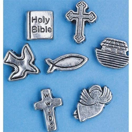 S&S Worldwide Metallic Christian Symbols, 10-12mm (Bag of 200)