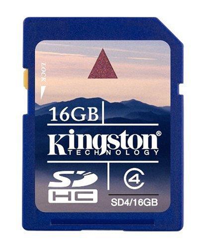 Kingston 16 GB Class 4 SDHC Flash Memory Card SD4/16GBET