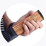 Portable Wooden Pocket Guitar Finger Exercise Practise Tool Gadget 6 String 6 Fret Chord Trainer