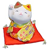Kimono Maneki Neko - Japanese Lucky Cat - Right hand up (#7356)