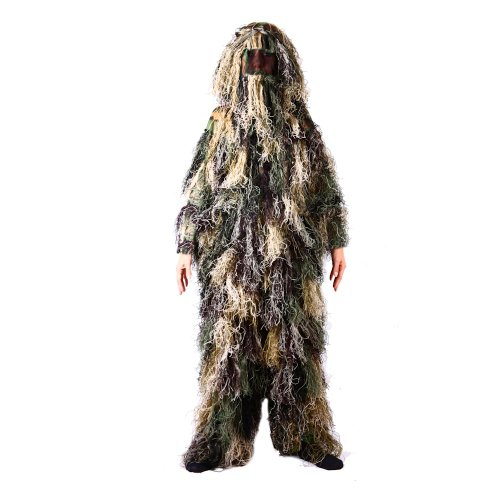 Kids Ghillie Suit, Woodland Camo, Ghillie Suits For Kids, (XL) Fits Ages 11-15 years