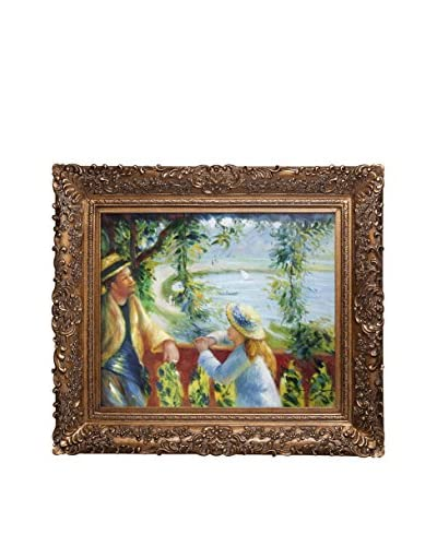 Pierre Auguste Renoir Near The Lake Oil Painting