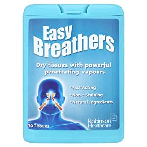 Robinson Healthcare Easy Breathers Dry Tissues with Powerful Penetrating Vapours 30 Tissues