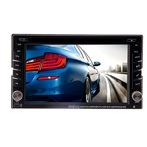 2015 New Model 6.2-Inch Double-2 DIN In Dash Car DVD Player Touch screen LCD Monitor with DVD/CD/MP3/MP4/USB/SD/AM/FM/RDS Radio/Bluetooth/Stereo/Audio SAT NAV Wall Paper exchange HD:800*480 LCD+Windows Win UI Design
